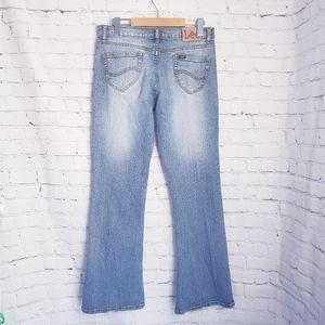 Vintage Lee Blue Jeans Flare Mid Rise Y2K 90s Boho
